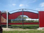 Заборы из профнастила,  ворота,  решетки изготовление,  монтаж.